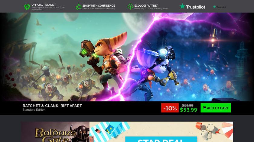 Green Man Gaming Landing Page