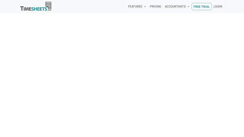 Timesheets.com Landing Page