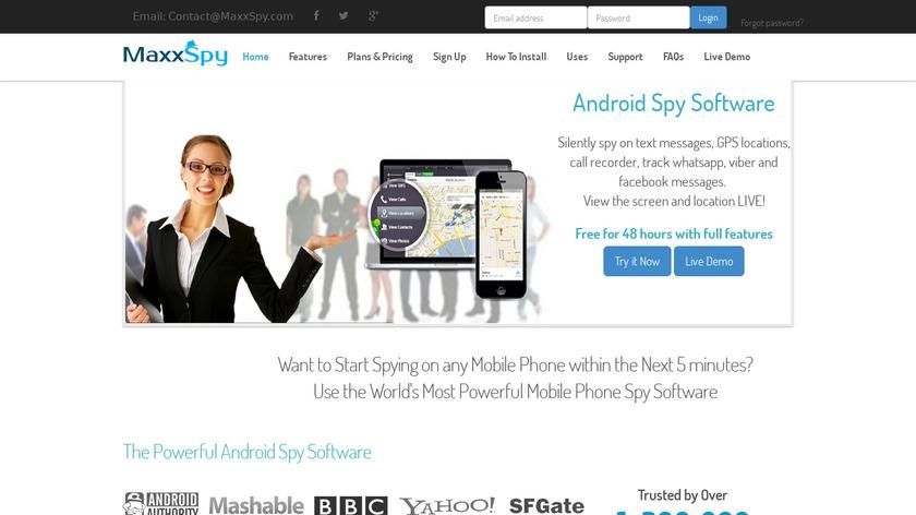 MaxxSpy Landing Page