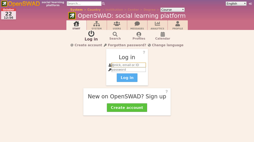 SWAD Landing Page