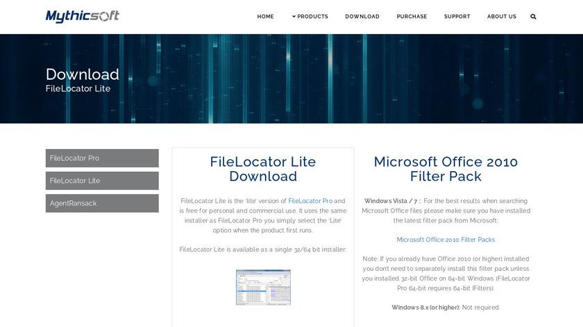 FileLocator Landing Page