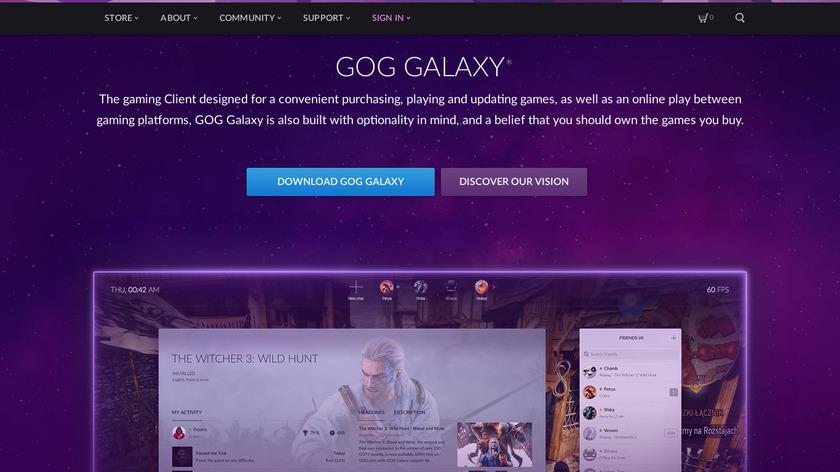 GOG Galaxy Landing Page