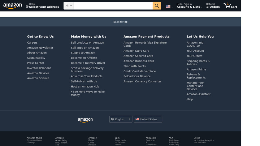 Amazon Kindle Landing Page