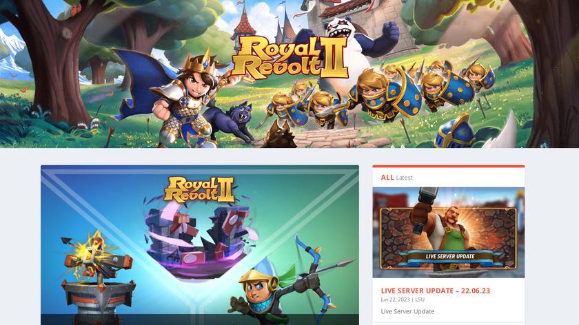 Royal Revolt Landing Page