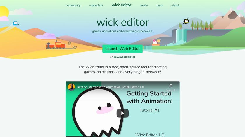 Wick Editor Landing Page