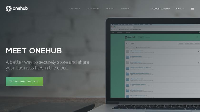 Onehub Landing Page
