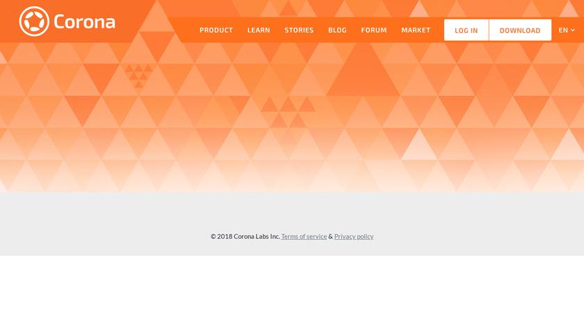 Corona SDK Landing Page