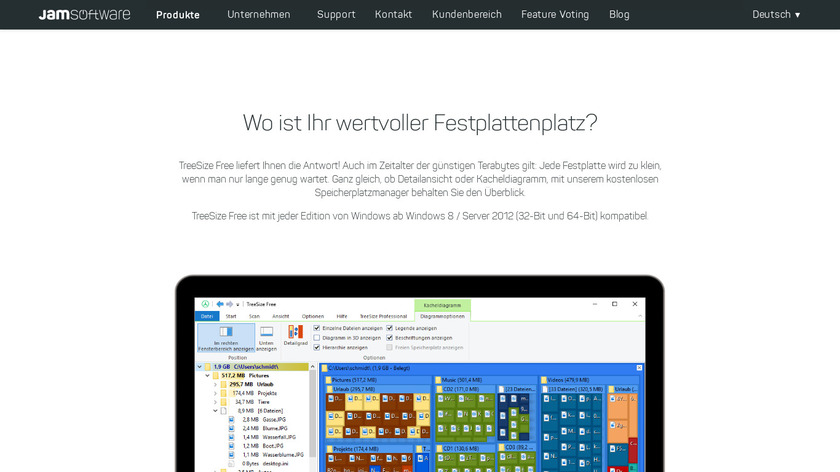 TreeSize Landing Page