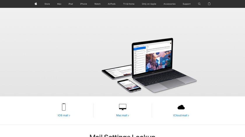 Apple Mail Landing Page