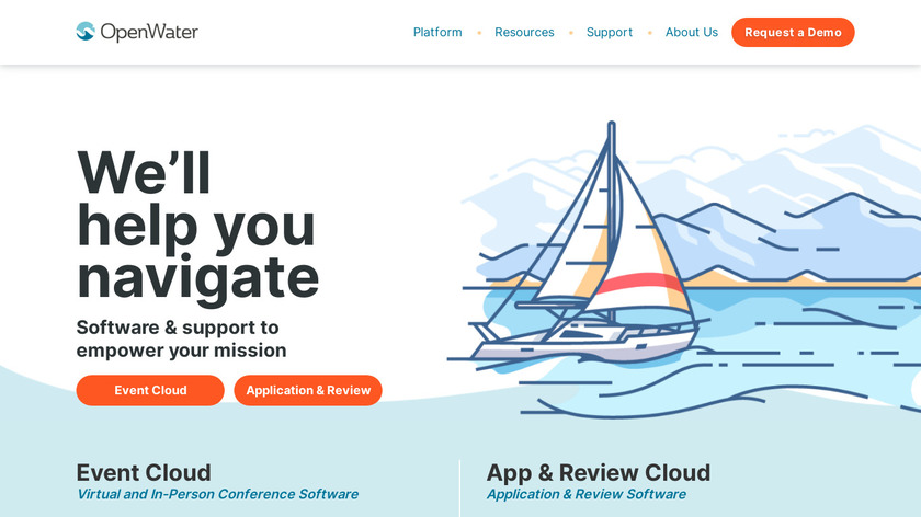 OpenWater Landing Page