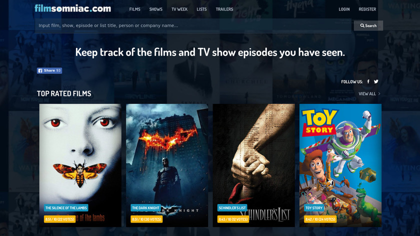 Filmsomniac Landing Page