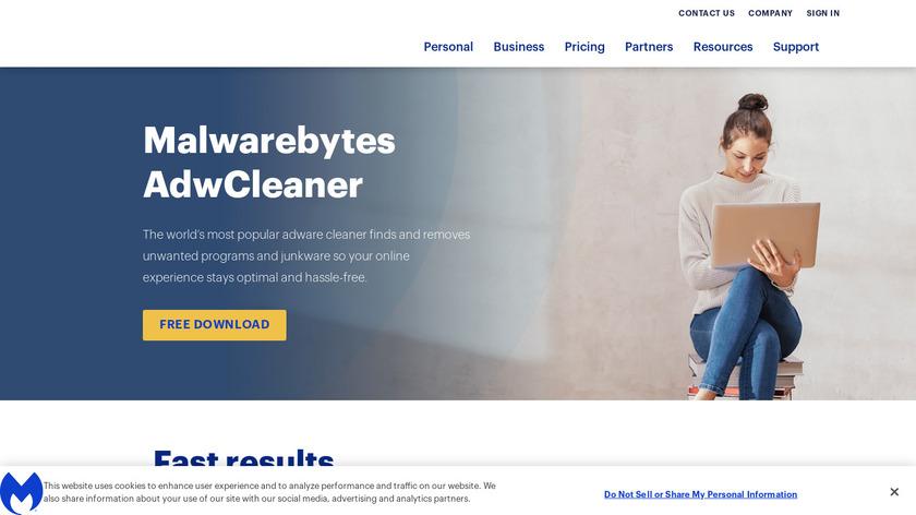 AdwCleaner Landing Page