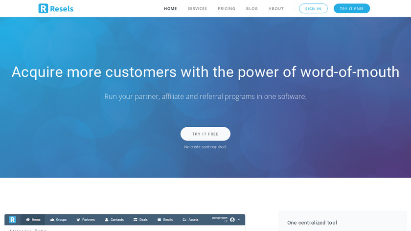 Resels Landing Page