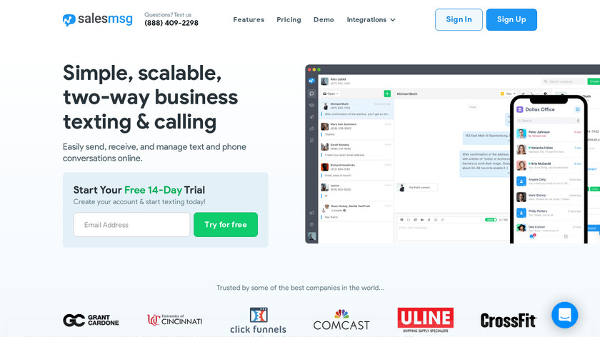 Salesmsg Landing Page