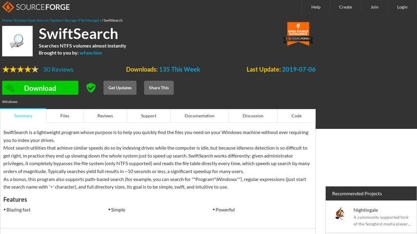 SwiftSearch Landing Page