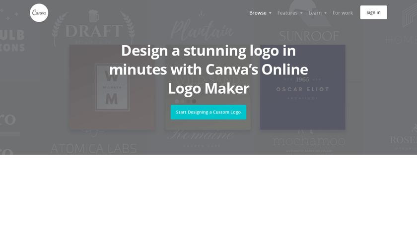Canva Logo Maker Landing Page