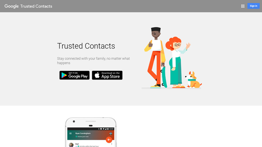 Trusted Contacts Landing Page