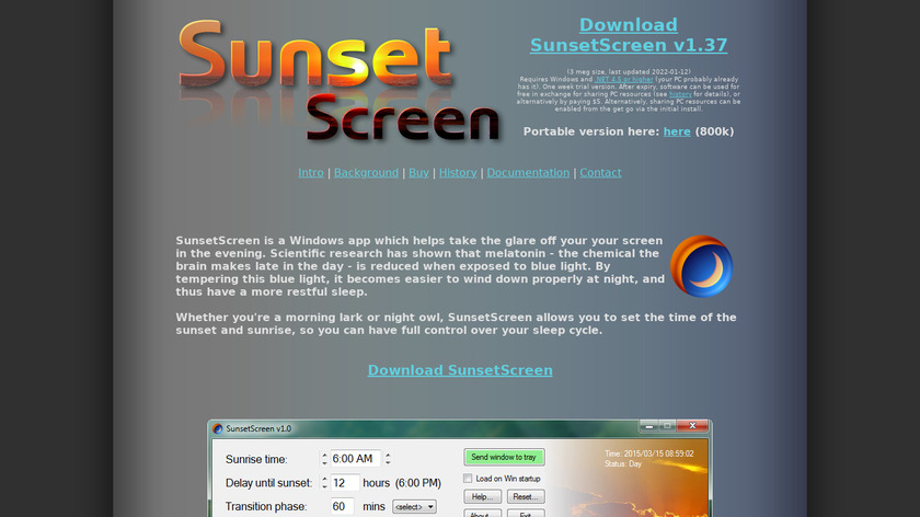 SunsetScreen Landing Page