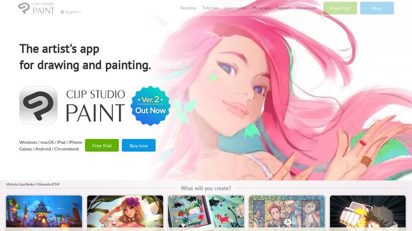 Clip Studio Paint Landing Page