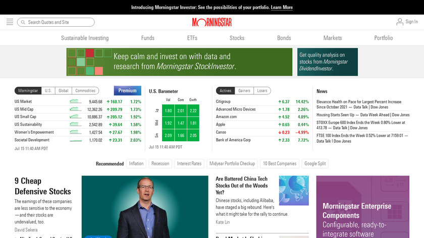 Morningstar Landing Page