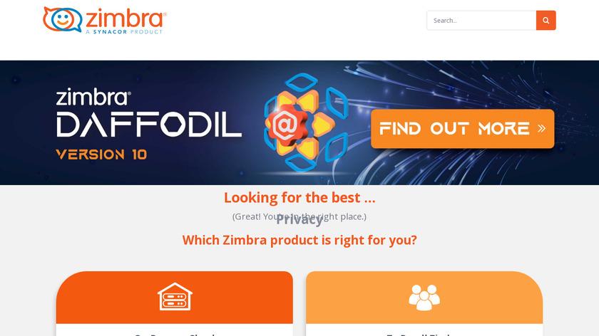 Zimbra Landing Page