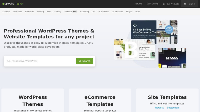 Theme Forest Landing Page