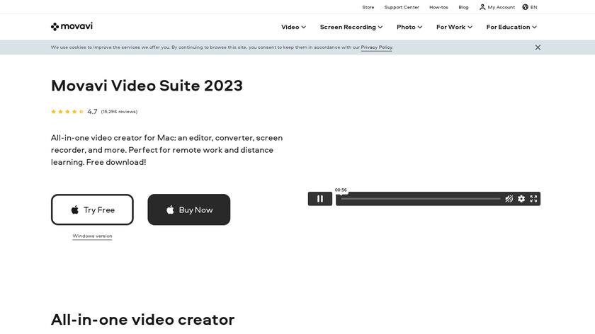 Movavi Video Suite Landing Page