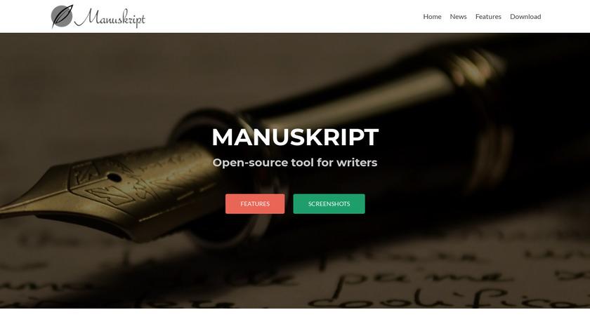Manuskript Landing Page