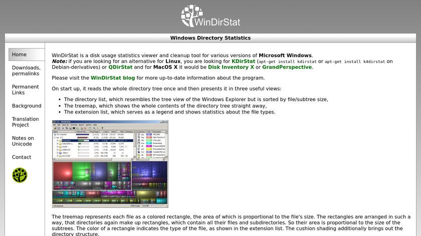 WinDirStat Landing Page
