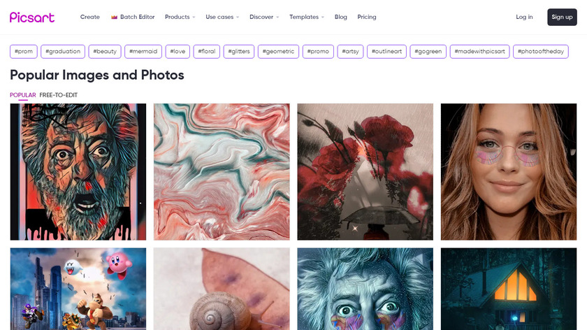 PicsArt Landing Page