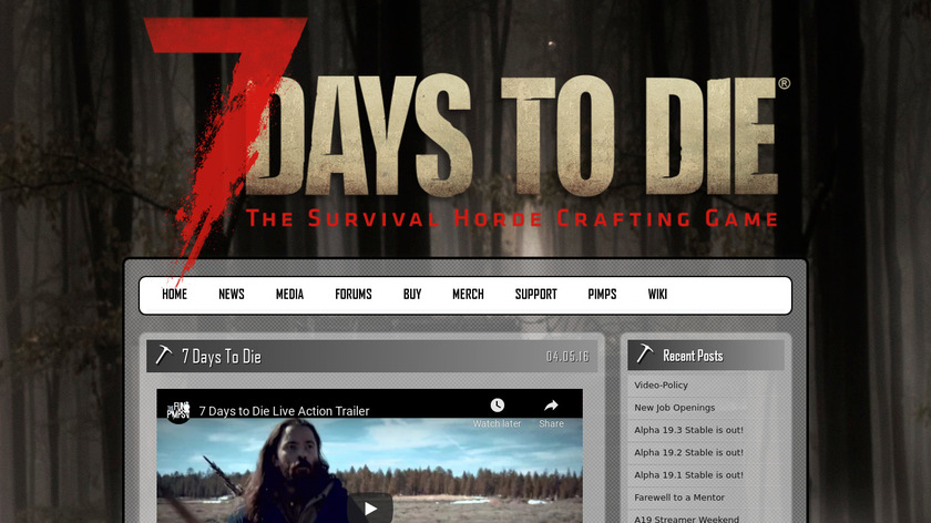 7 Days to Die Landing Page
