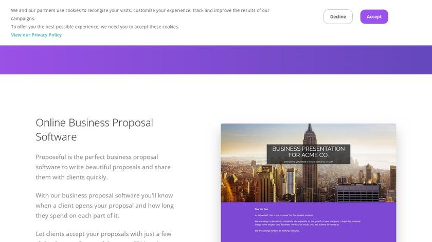 Proposeful Landing Page