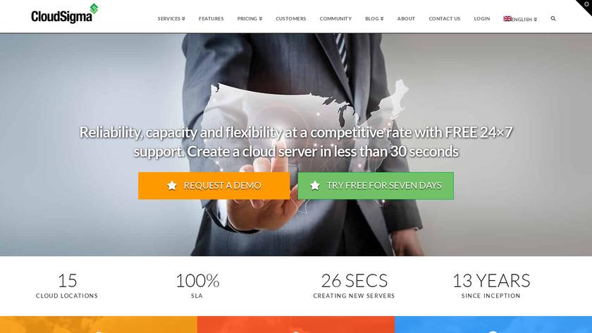 CloudSigma Landing Page