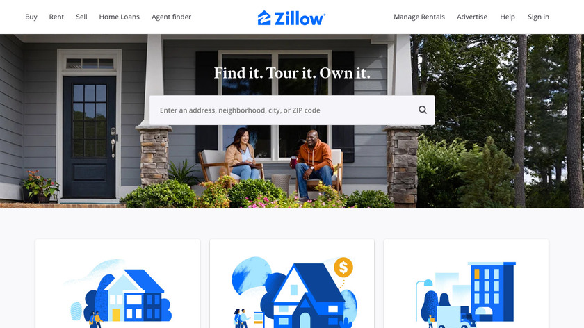 Zillow Landing Page