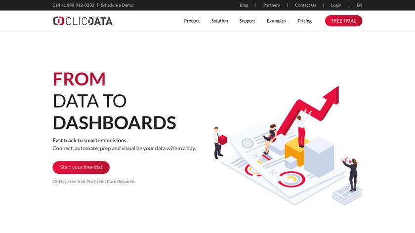 ClicData Landing Page