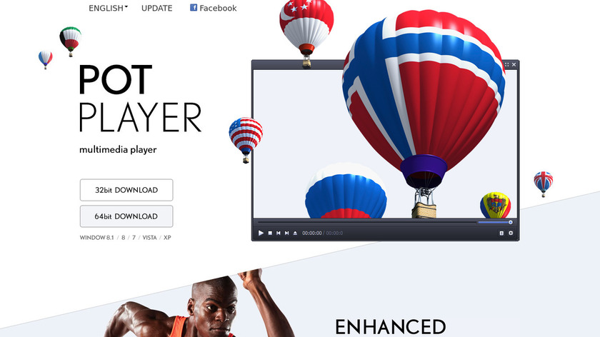 PotPlayer Landing Page