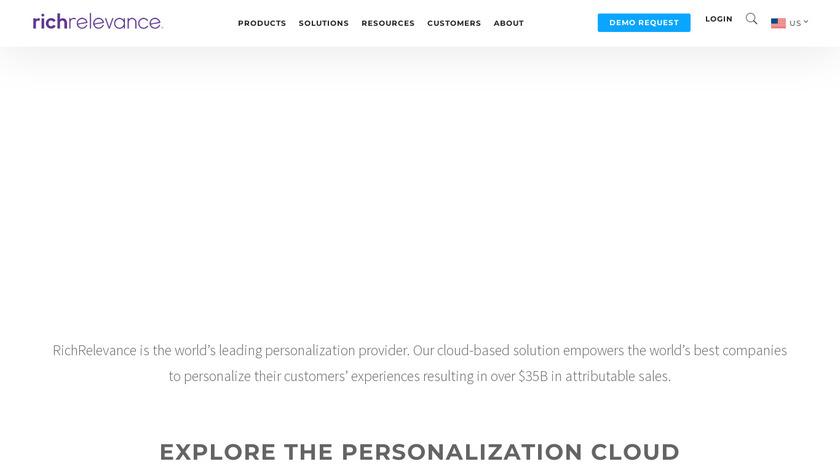 RichRelevance Landing Page