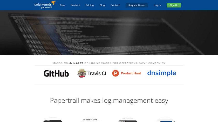 Papertrail Landing Page