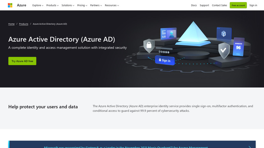 Microsoft Azure Active Directory Landing Page