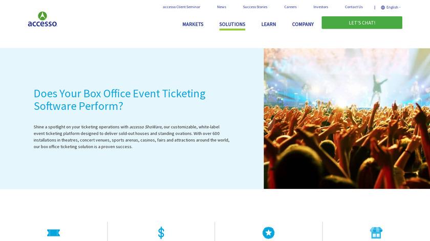 accesso ShoWare Landing Page