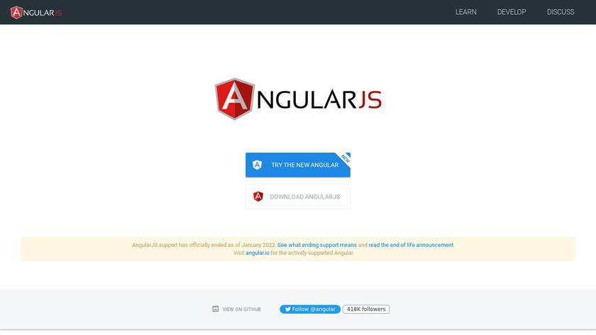 AngularJS Landing Page