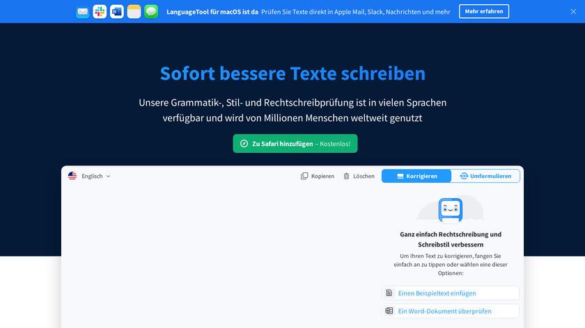 LanguageTool Landing Page