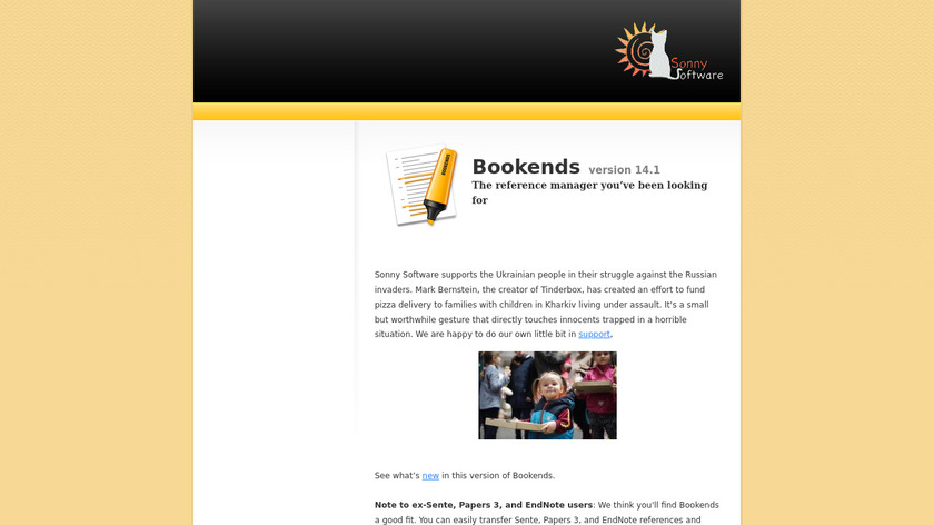 Bookends Landing Page