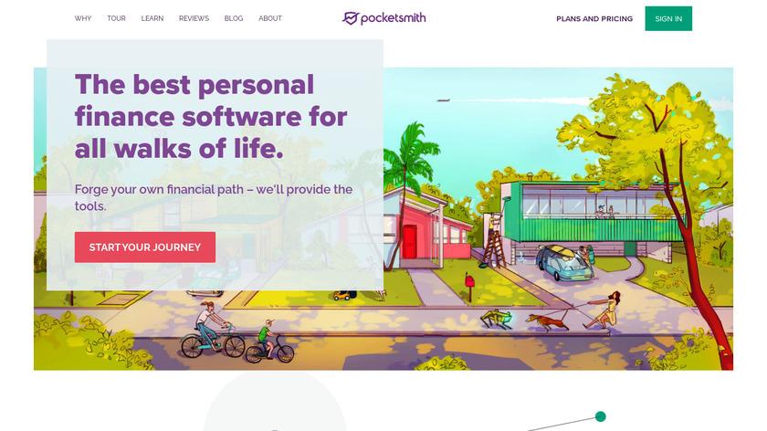 Pocketsmith Landing Page