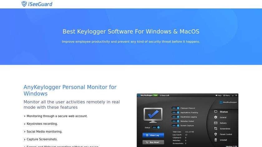 Any Keylogger Landing Page