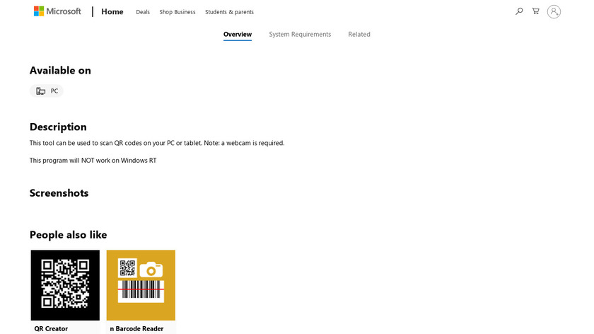 MKH Barcode Reader Landing Page