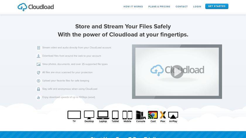 CloudLoad Landing Page
