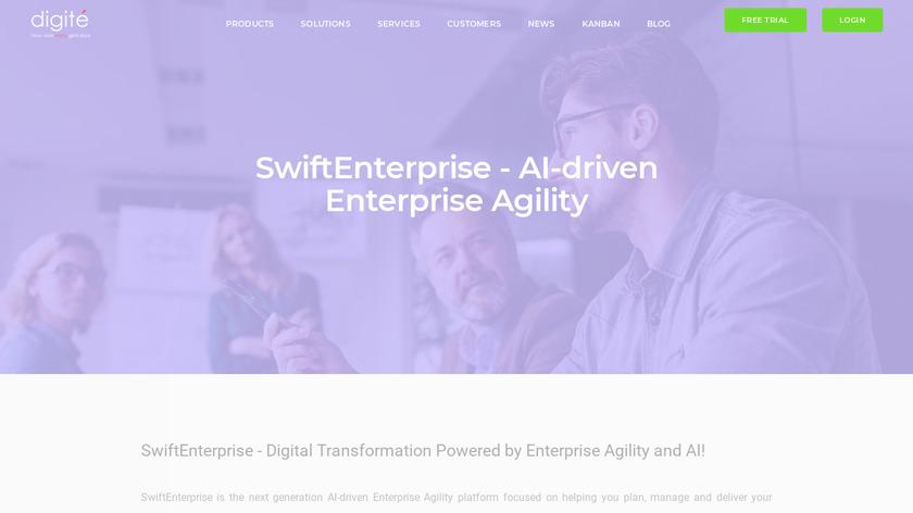 digite.com SwiftALM Landing Page