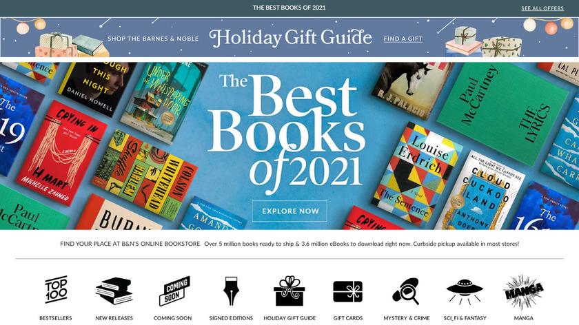 Barnes  Noble Landing Page