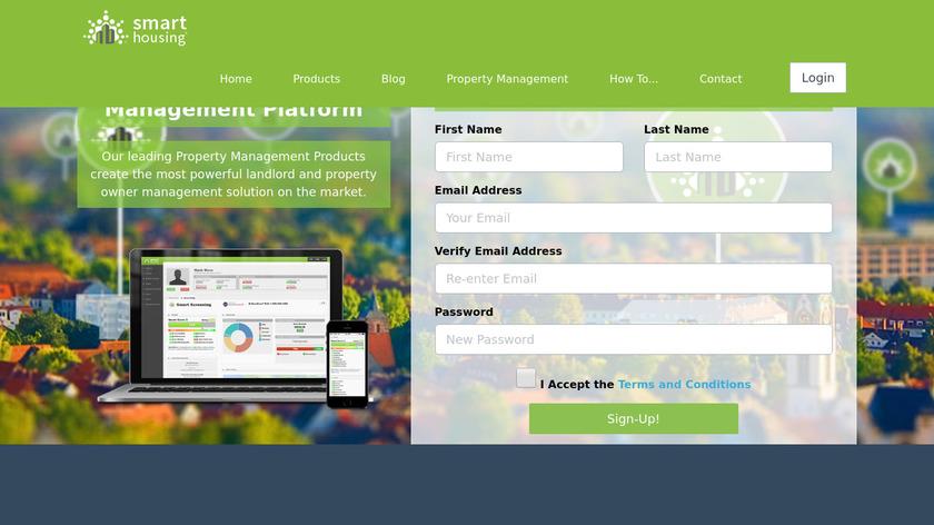 Smart Housing Landing Page